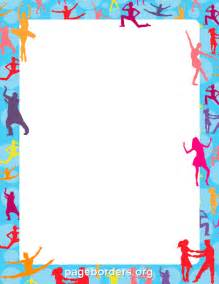 dance border clip art page border and vector graphics