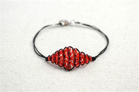 thread and bead bracelets how to make shape bracelets with seed