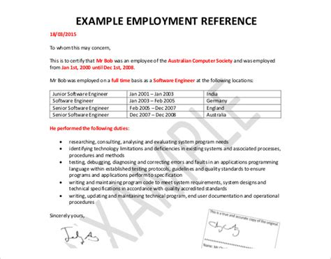Sle Reference Letter For Previous Employee Simple Reference Letter For Employee Letter Idea 2018