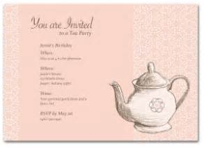 printable tea party birthday invitation template