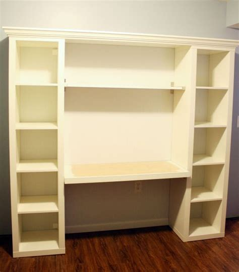 Bookcase Desk Diy How To Build Your Own Quot Built In Quot Desk From Ikea Billy Bookcases Activities Pinterest