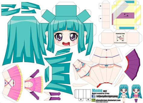 Anime Paper Crafts - 72 best papercrafts images on cubes paper