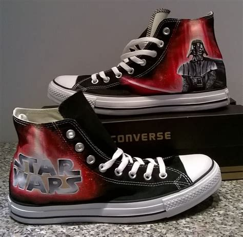 wars shoes wars painted converse shoes darth vader shoes