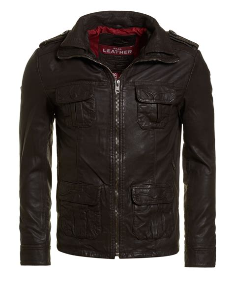 Superdry Leather Brown new mens superdry new brad leather jacket brown ebay