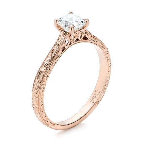 custom gold solitaire engagement ring 101618