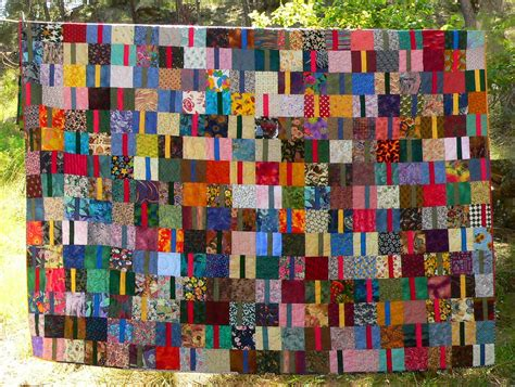 Scrap Quilts by Living And Dyeing The Big Sky Scrap Quilt Wedding Gift