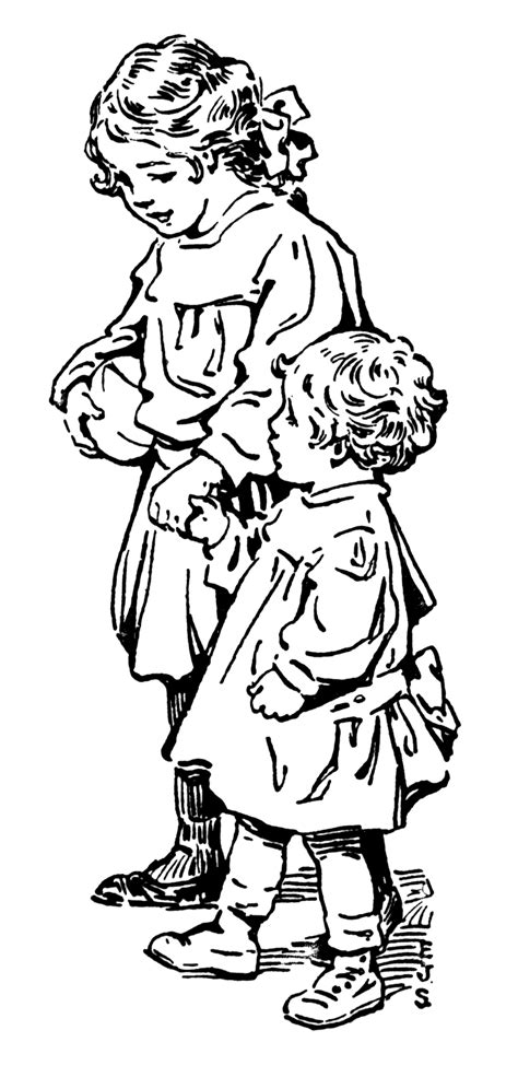 free coloring pages of the big sister