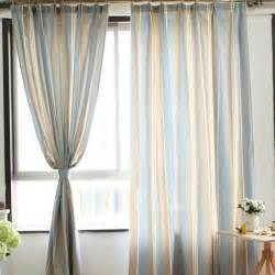 Blue Striped Curtains Blue Striped 2 Panels Eco Friendly Curtains Window Treatments