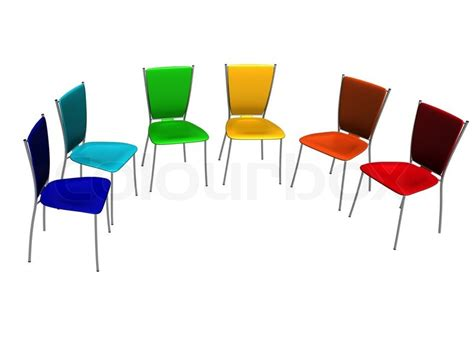 armchair group group of chairs costs a half round stock photo colourbox