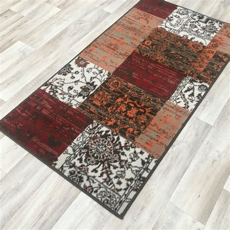 Patchwork Direct - orange patchwork wilton rug cheap rugs flooring direct