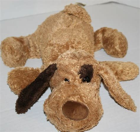puppy stuffed animals walmart plush brown spot eye ear stuffed animal puppy 13 quot laying floppy sold on