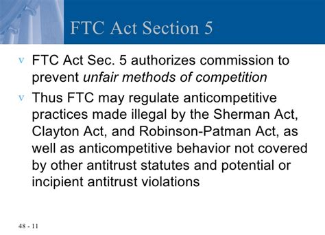 ftc act section 5 chapter 48 the federal trade commission act and consumer