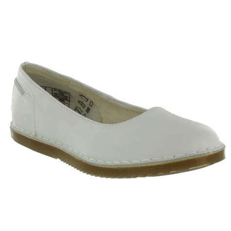 dr martens pumps white flat shoes from