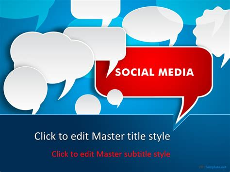 social media powerpoint template free free social media discussion ppt template