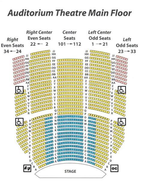 ahmanson theatre seating chart seating chart