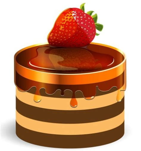 clipart dolci free sweet strawberry cake vector titanui