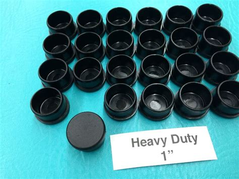 plastic black patio chair leg inserts cups  tube cup