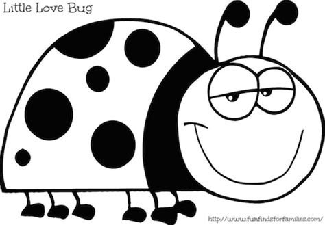 love bug coloring page ladybug love bug coloring page get coloring pages