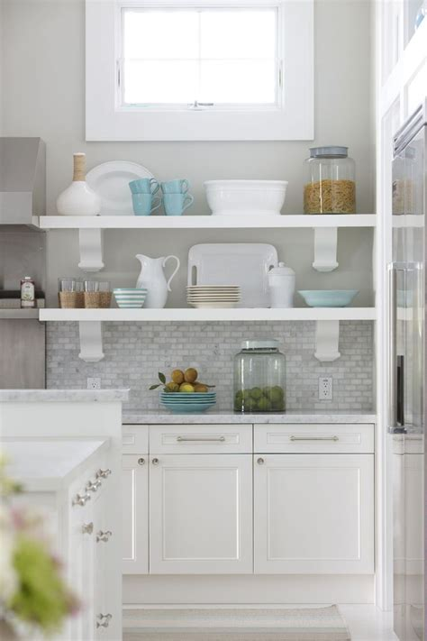 open shelving under cabinets kitchen pinterest open molly frey designs coastal kitchen kitchen white