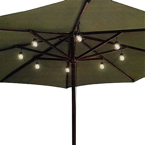 Led Umbrella Globe String Lights Bed Bath Beyond Umbrella Light String