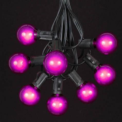 Black Light String Lights by Purple G40 Globe Outdoor String Light Set On Black