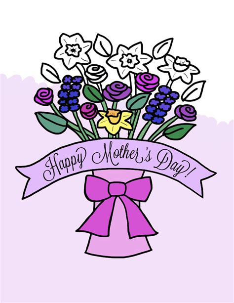 coloring pages of flowers for s day crafts s day flower bouquet in vase coloring page