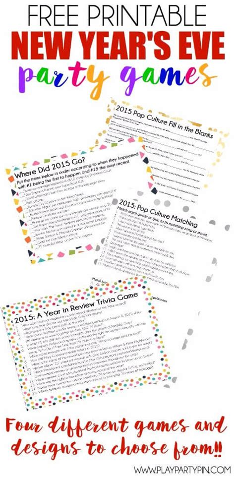printable games for new years free printable 2015 new years eve party games