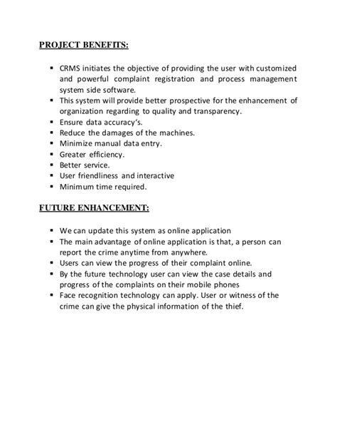 Criminal Record System Project Criminal Record Management System Report