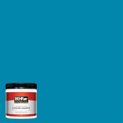 behr premium plus 8 oz 580b 5 cornflower blue interior exterior paint sle 580b 5pp the