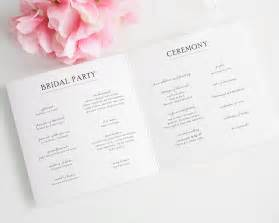 Make Your Own Wedding Place Cards - simple elegance wedding programs wedding programs by shine