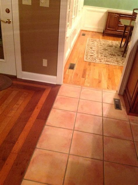 What to replace tile floor with in kitchen with 2