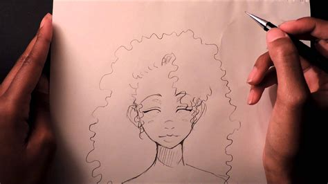 drawing curly hair how to draw curly afro hair pretty neat stuff