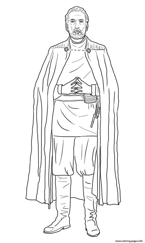 Count Dooku Star Wars The Clone Wars Coloring Pages Printable