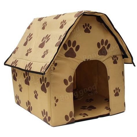 foldable dog house collapsible dog cat pet puppy kennels beds houses doghouse folding portable travel at
