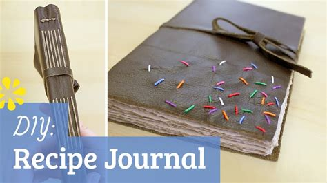How To Make A Book Cover With Construction Paper - diy leather recipe journal how to cook that collab sea