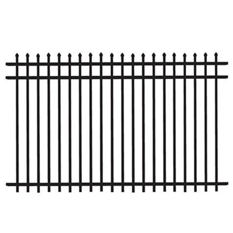 home depot decorative fence tuffbilt cascade heavy duty 5 ft h x 8 ft w black