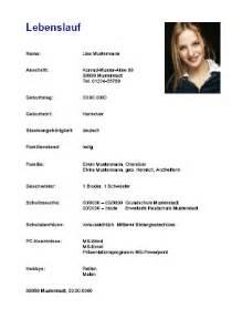 Lebenslauf Berufsausbildung Lebenslauf 1 Ausbildung