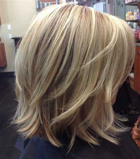 images front and back choppy med lengh hairstyles back view medium length stacked bob hairstyles 2015
