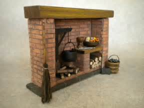 doll house fireplace with accessories colonial tudor