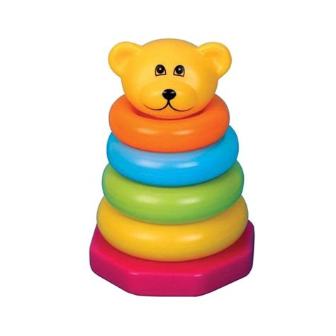 jual funtime stacker rainbow coloured rings mainan