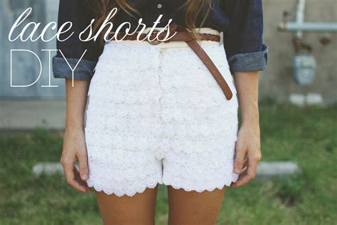 Lace Shorts how to make lace shorts diy shorts projects pretty designs