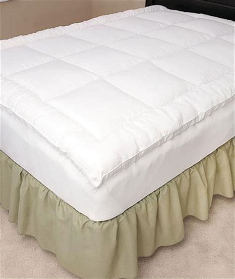 fitted bed skirt stay put fitted fiberbed mattress pad topper w elasticized