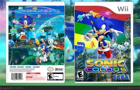 sonic colors wii sonic colors wii box cover by agent471