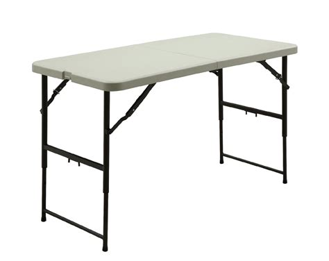 Height Adjustable Folding Table 6 Fold In Half Adjustable Height Table Convenient Workspaces By Kmart