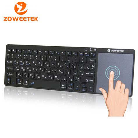 Keyboard For Pc original zoweetek k12bt 1 mini wireless bluetooth keyboard russian touchpad for pc laptop