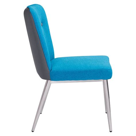 dining chair tufted blue and gray dcg stores