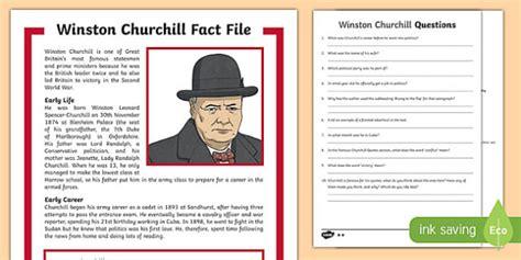 ks2 biography of winston churchill winston churchill ks2 differentiated reading comprehension