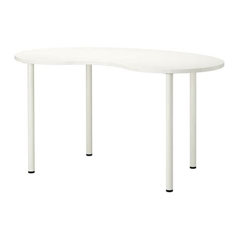 Leveling Furniture On Uneven Floors by Hissmon Adils Table Cashew Shape White 55 1 8x29 1 2