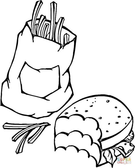 free coloring pages fast food fast food free coloring page home housework food