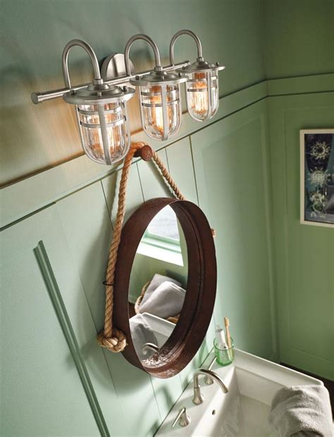 Nautical Bathroom Lighting Nautical Bathroom Light Fixtures Pinteres